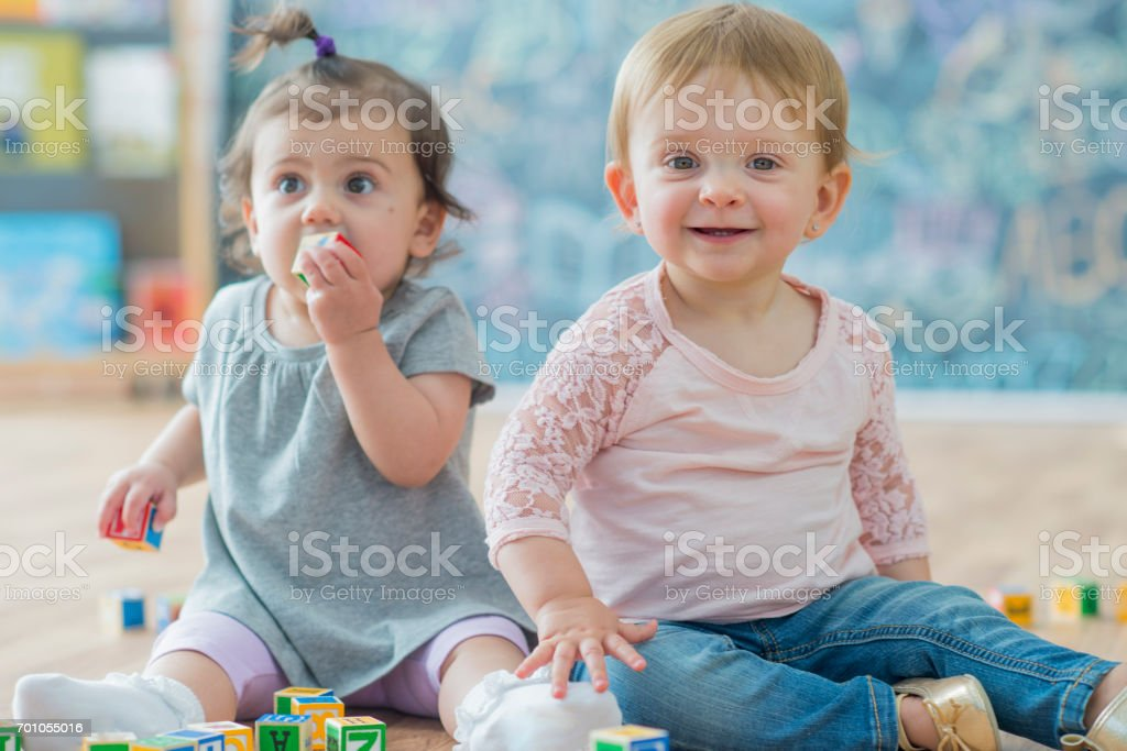 Daycare Friends stock photo