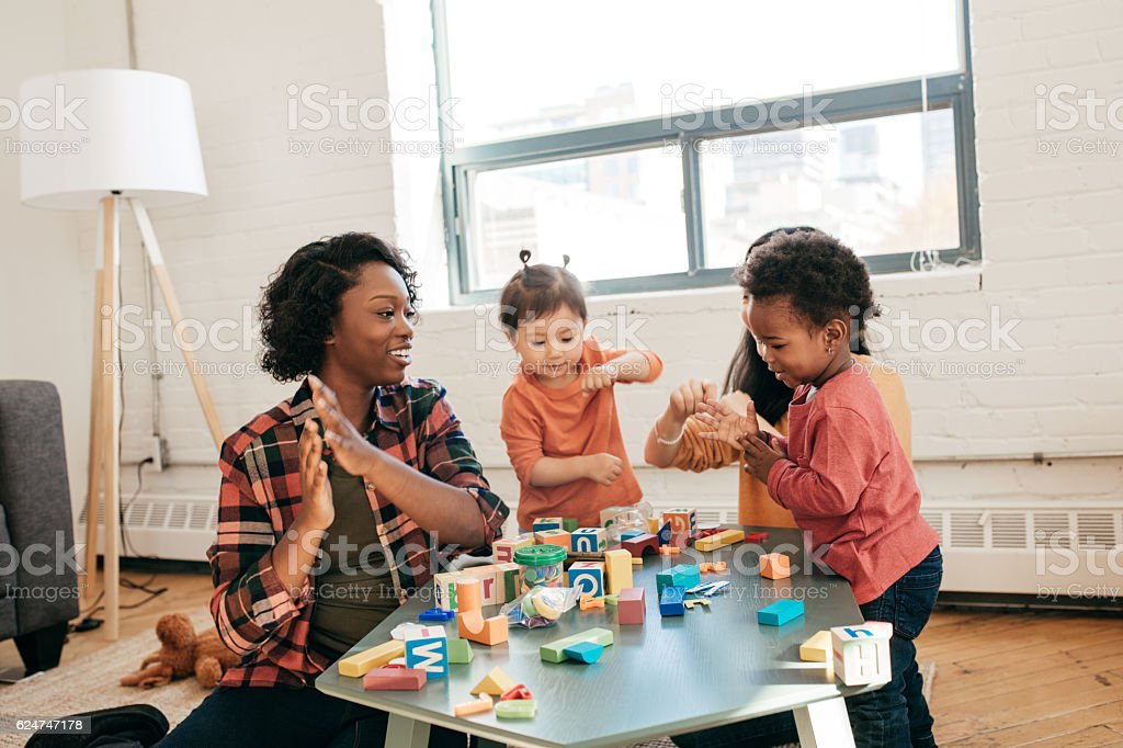 Daycare fun activities stock photo