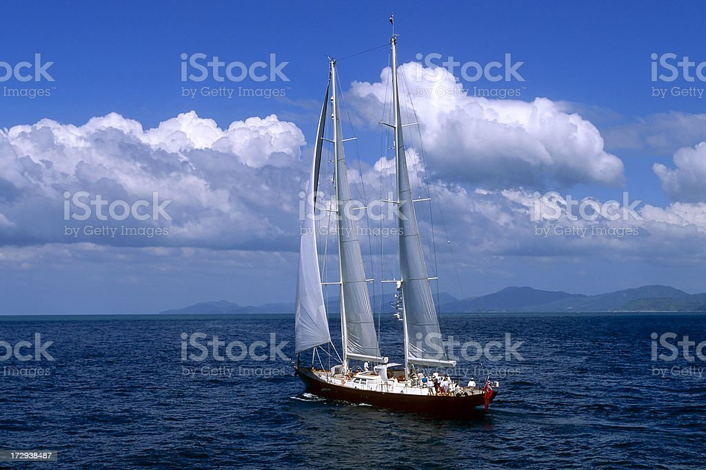 daydream sailing yacht above view royalty-free stock photo
