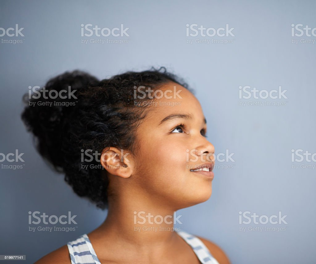 Daydreaming about her future stock photo