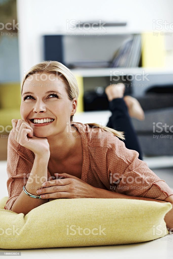 Daydreaming about the future royalty-free stock photo