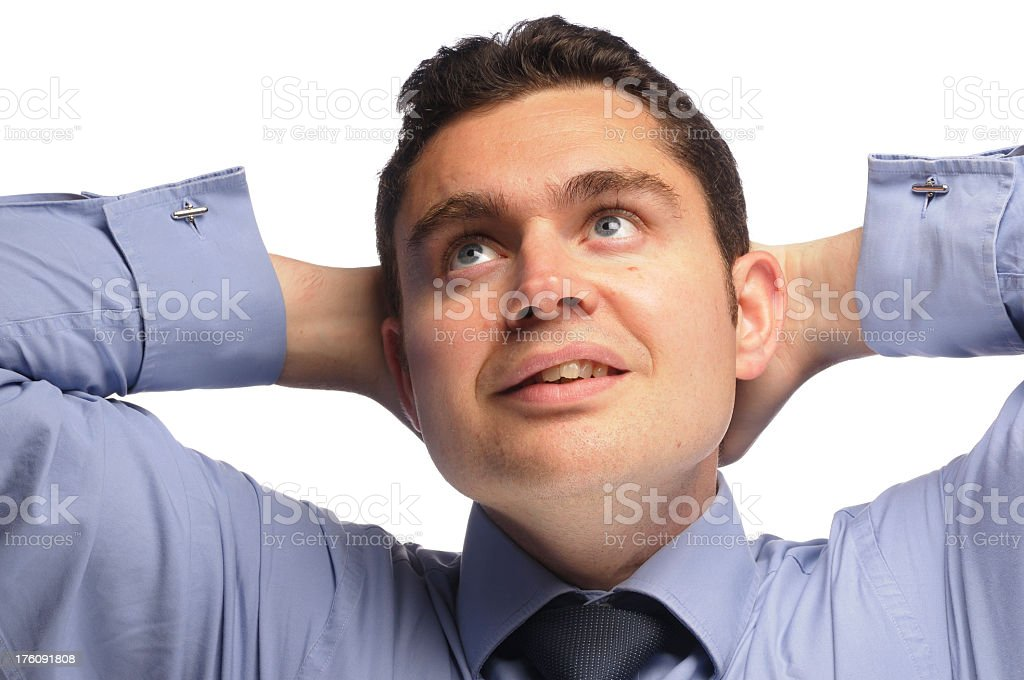 Daydreaming Business Man stock photo