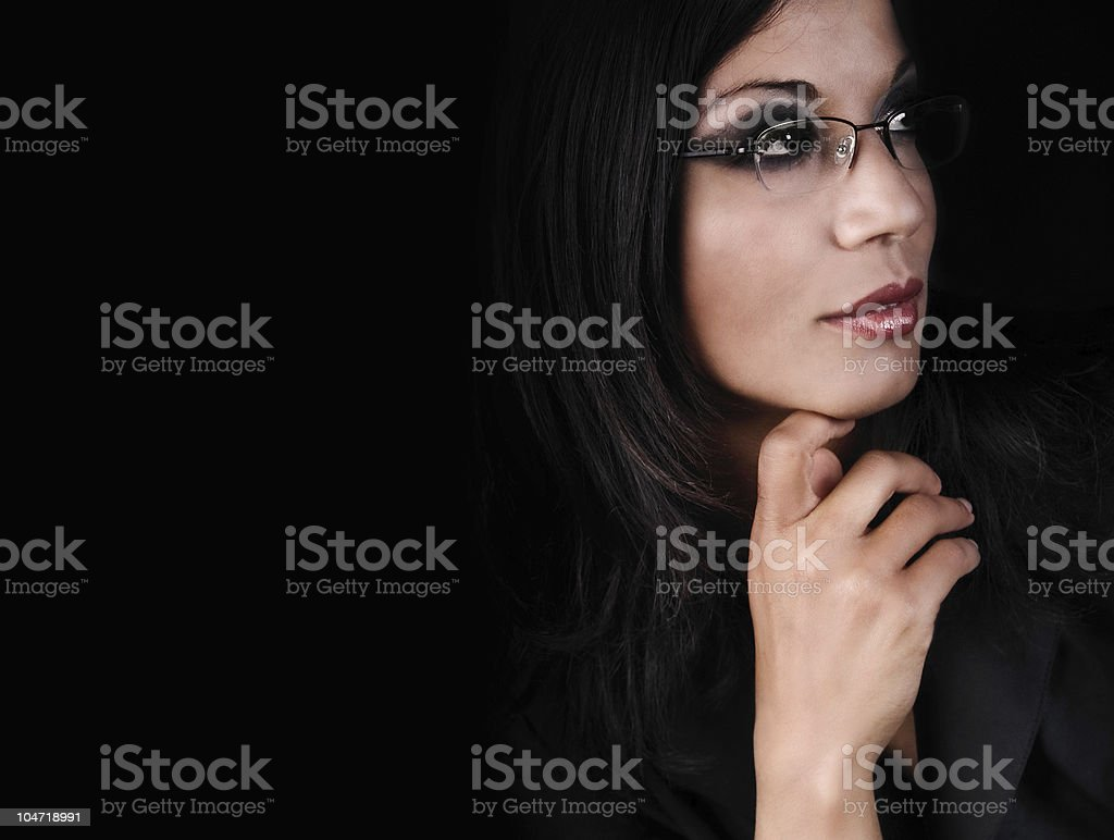 Daydreaming business woman stock photo