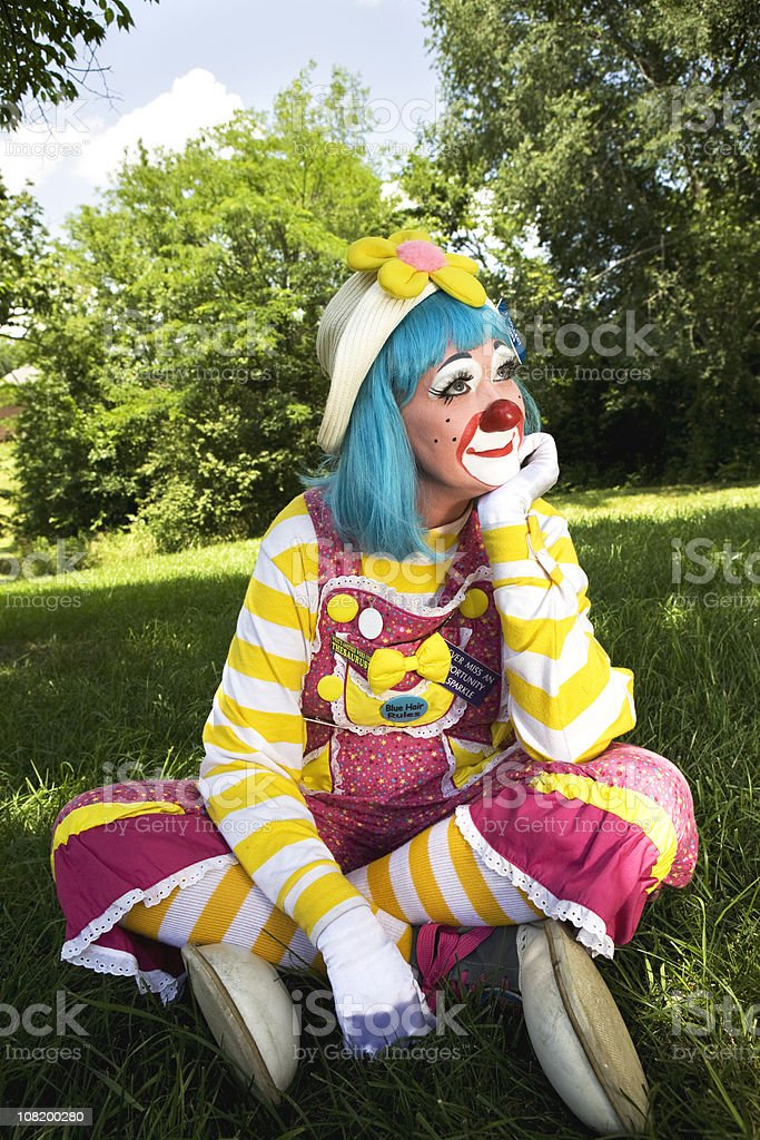Daydreaming Clown royalty-free stock photo