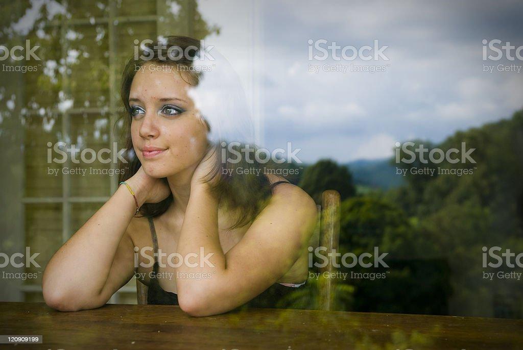 Daydreaming Girl stock photo