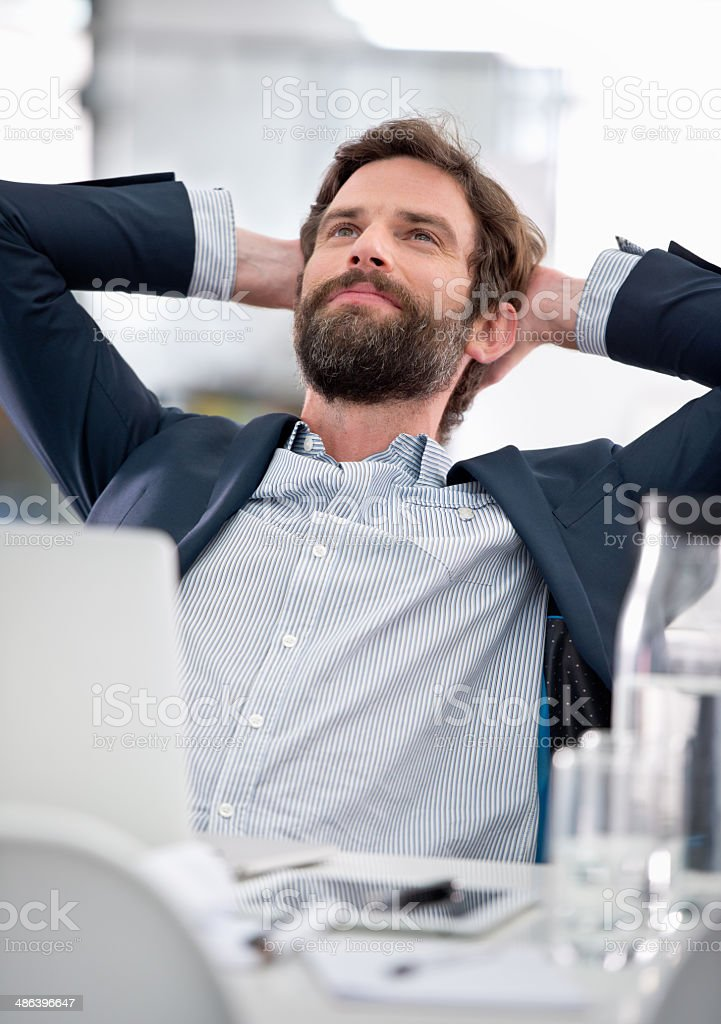 Daydreaming of success stock photo