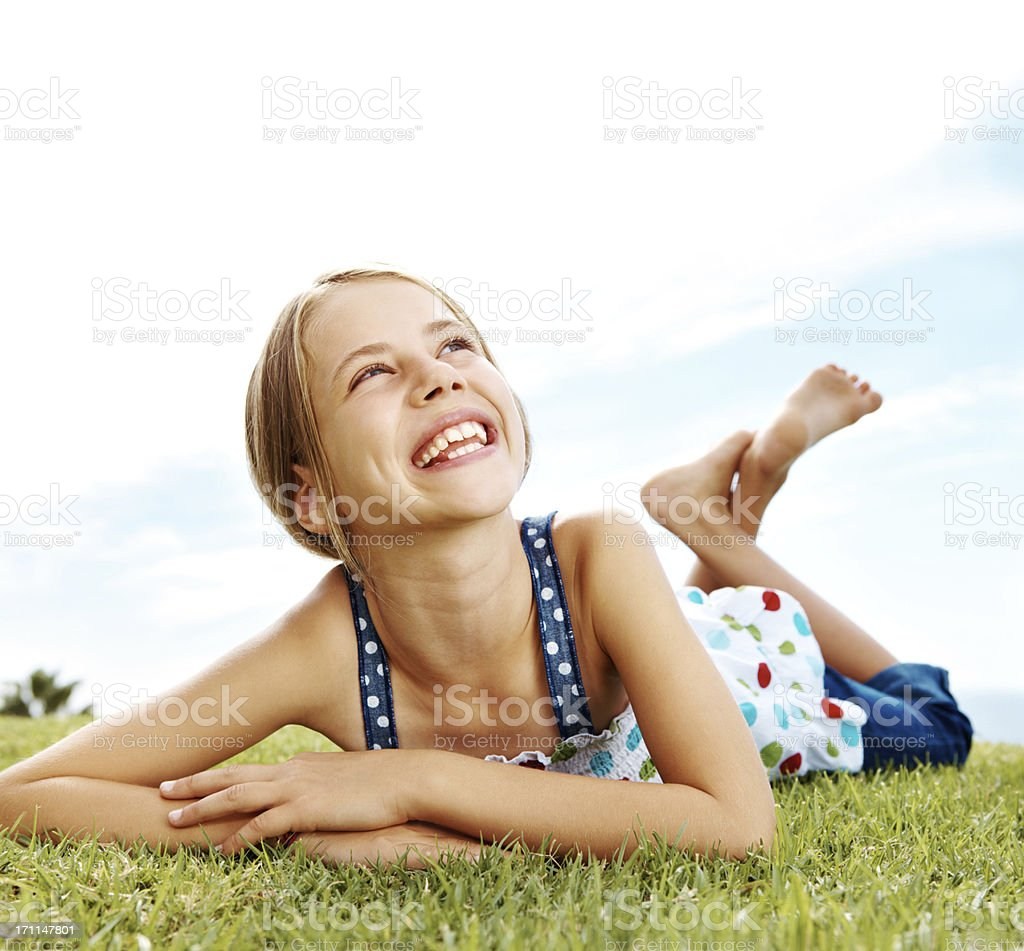 Daydreaming on a bright summer day! royalty-free stock photo