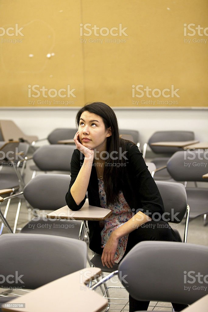 Daydreaming Student stock photo