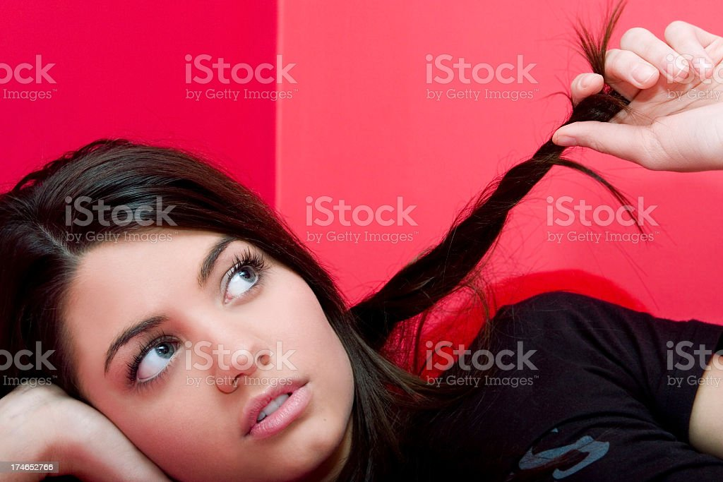 Daydreaming Teen royalty-free stock photo