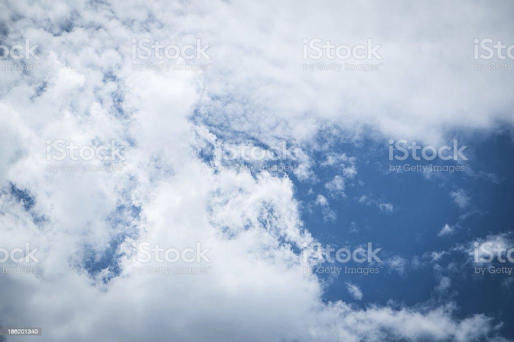 Daylight, beautiful cloud , and bright blue sky royalty-free stock photo