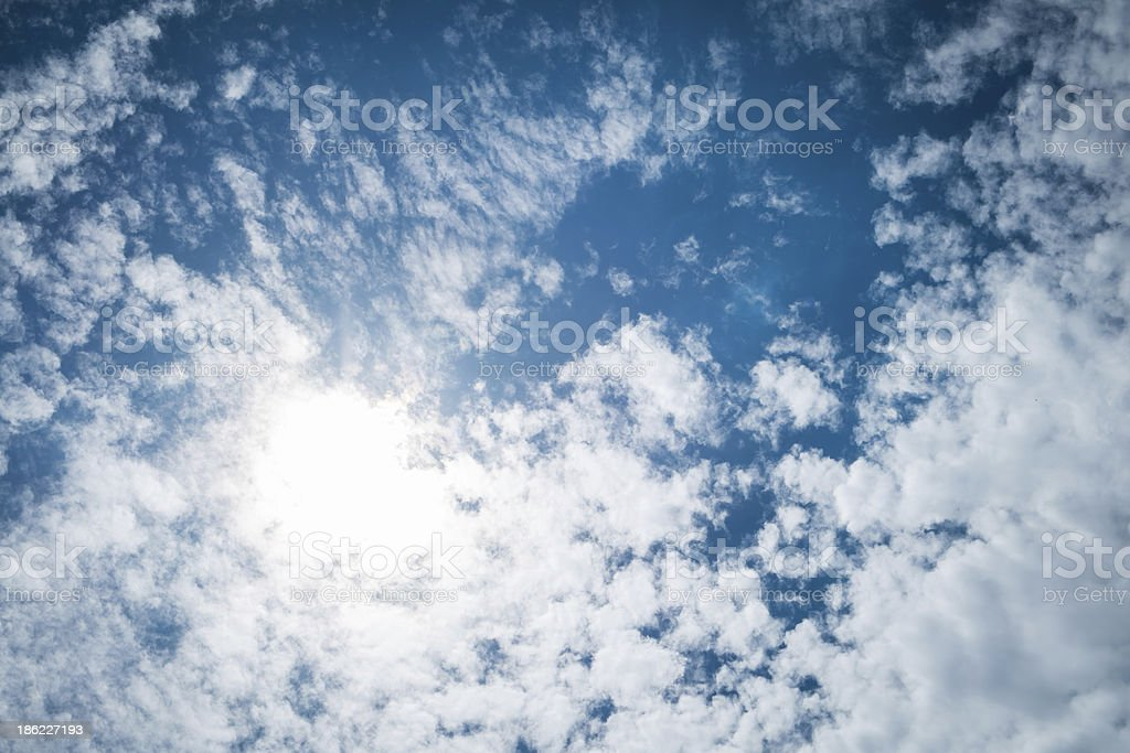 Daylight, beautiful cloud , and bright blue sky royalty-free stock photo