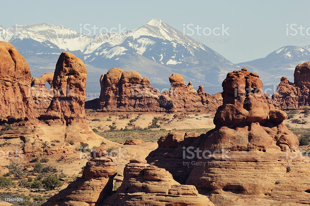 Daylight landscape in Arches National Park royalty-free stock photo