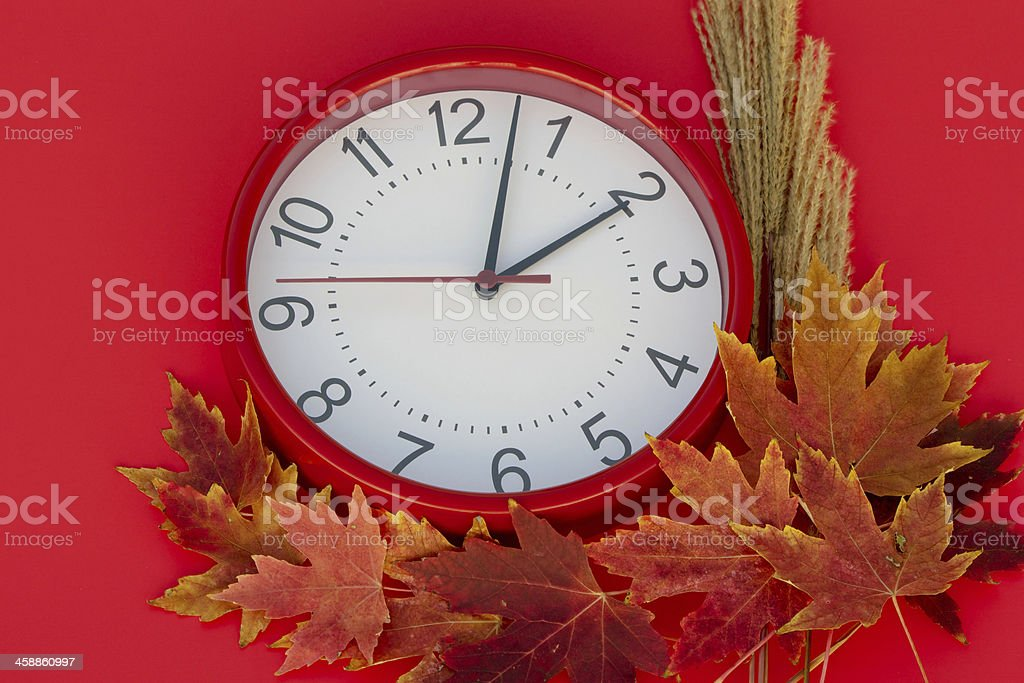 Daylight Saving Clock stock photo