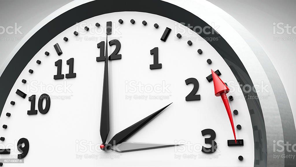 Daylight saving time ends stock photo