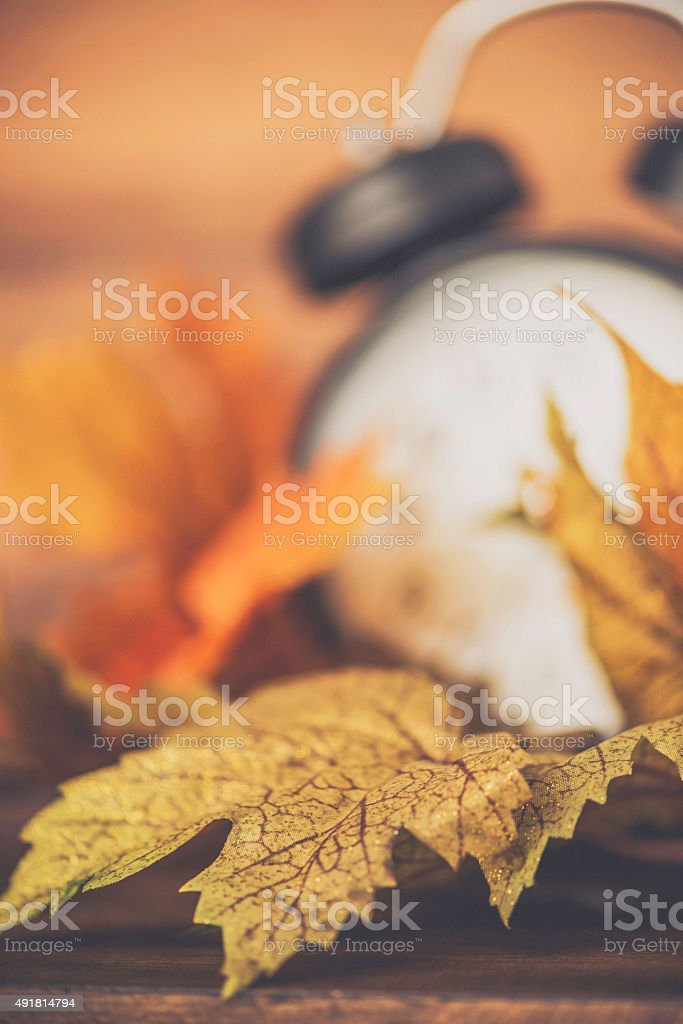 Daylight Savings Time. Fall is time to turn back time stock photo