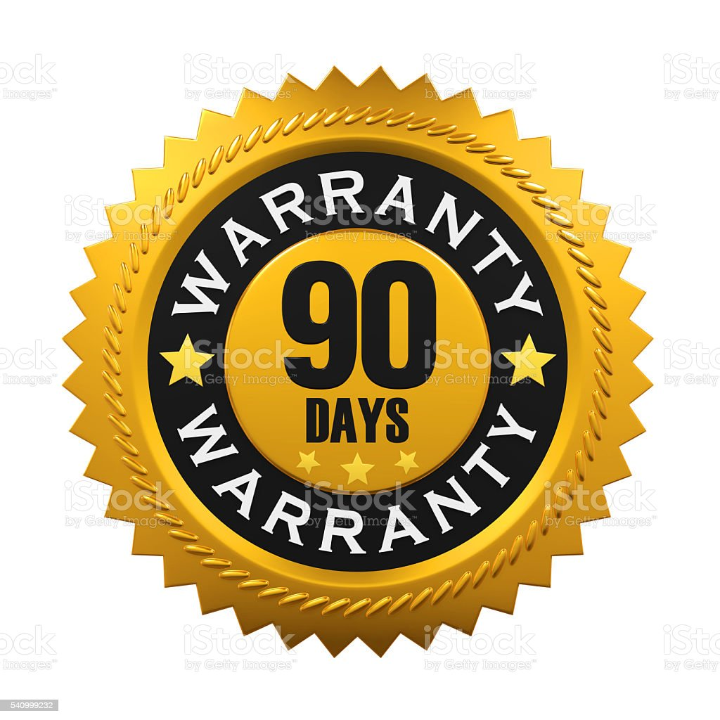 90 Days Warranty Sign stock photo