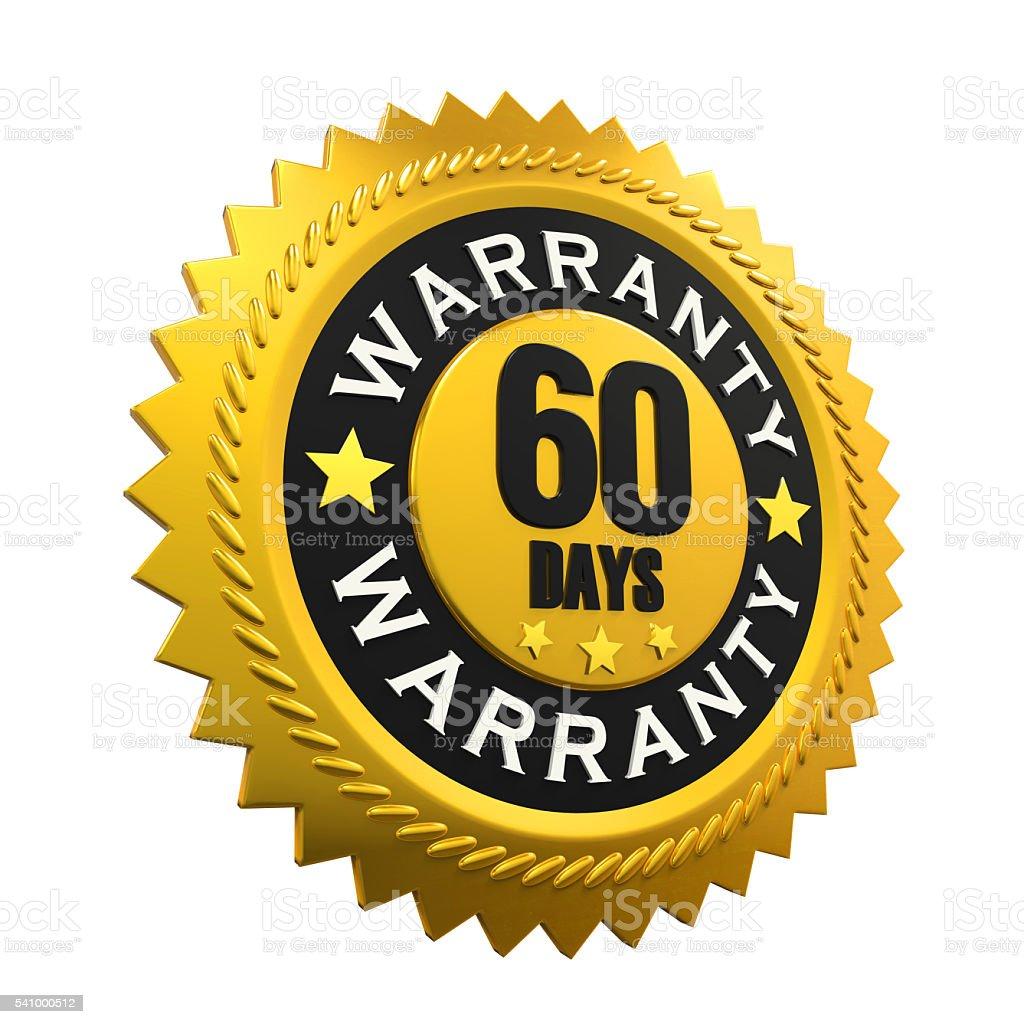 60 Days Warranty Sign stock photo