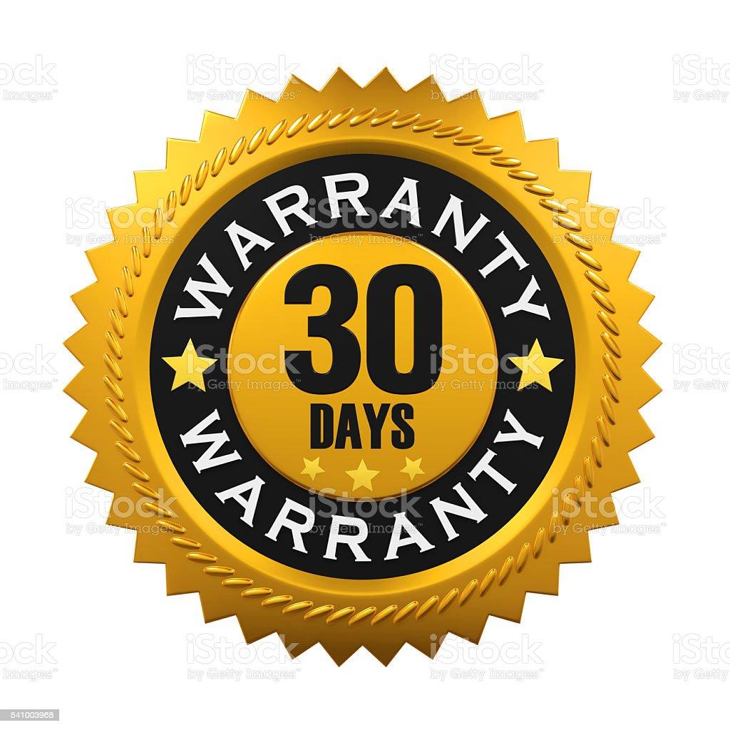 30 Days Warranty Sign stock photo