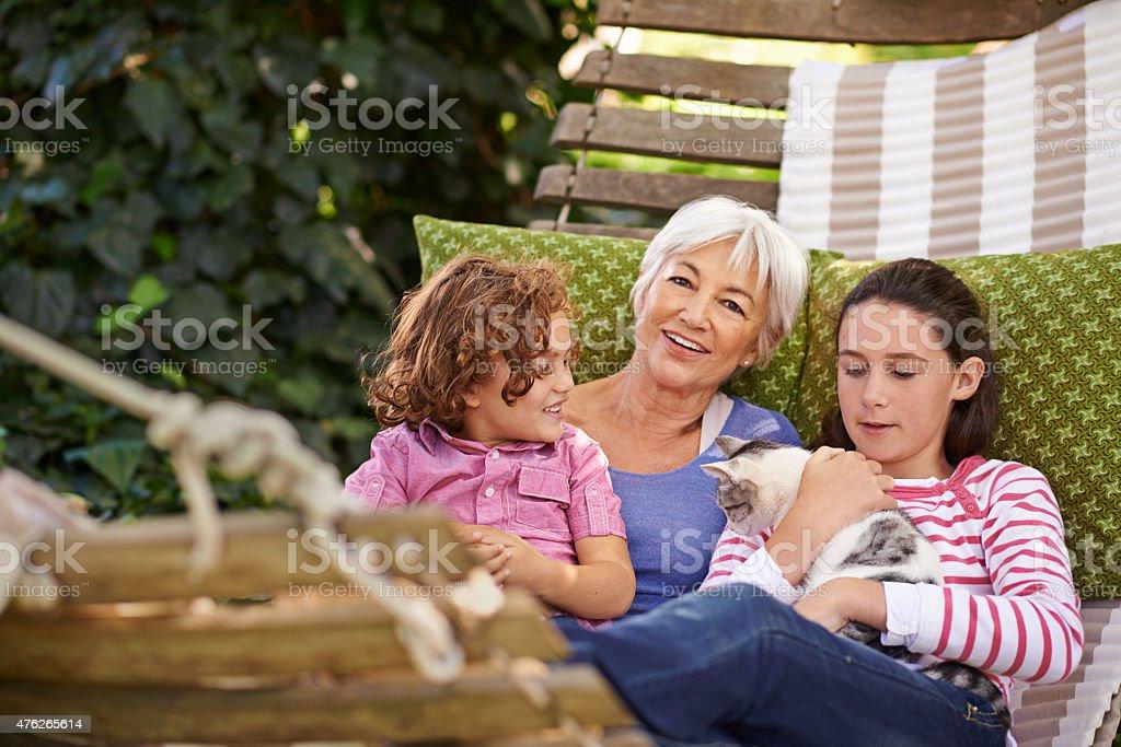 Days with my grandkids... stock photo