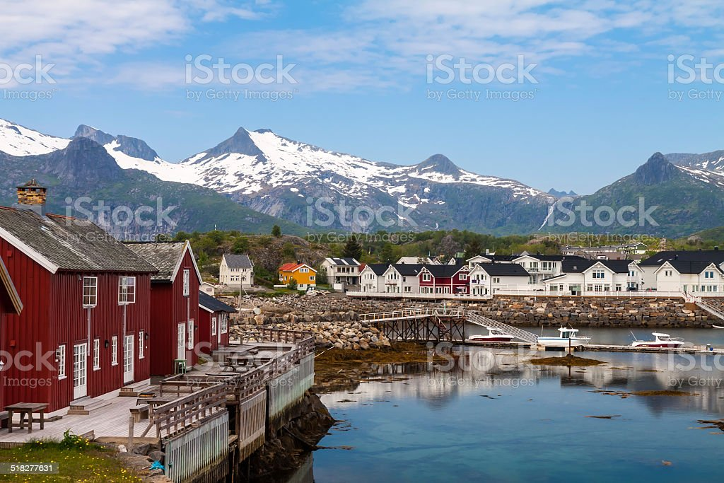 Daytime in Kabelvag, Lofoten Islands, Norway stock photo
