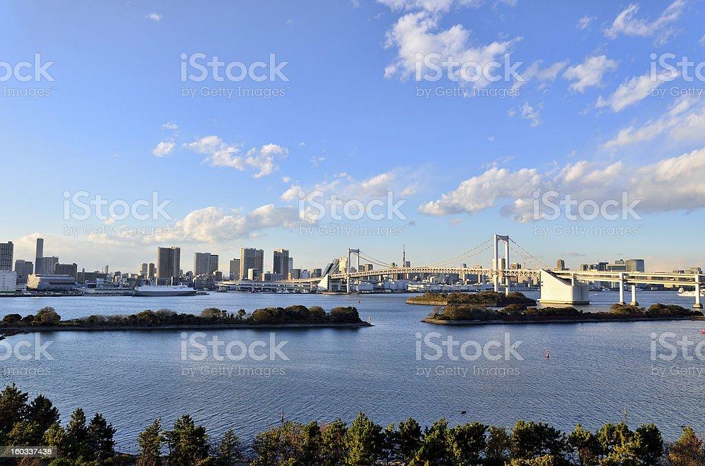 Daytime landscape of Rainbow Bridge. royalty-free stock photo
