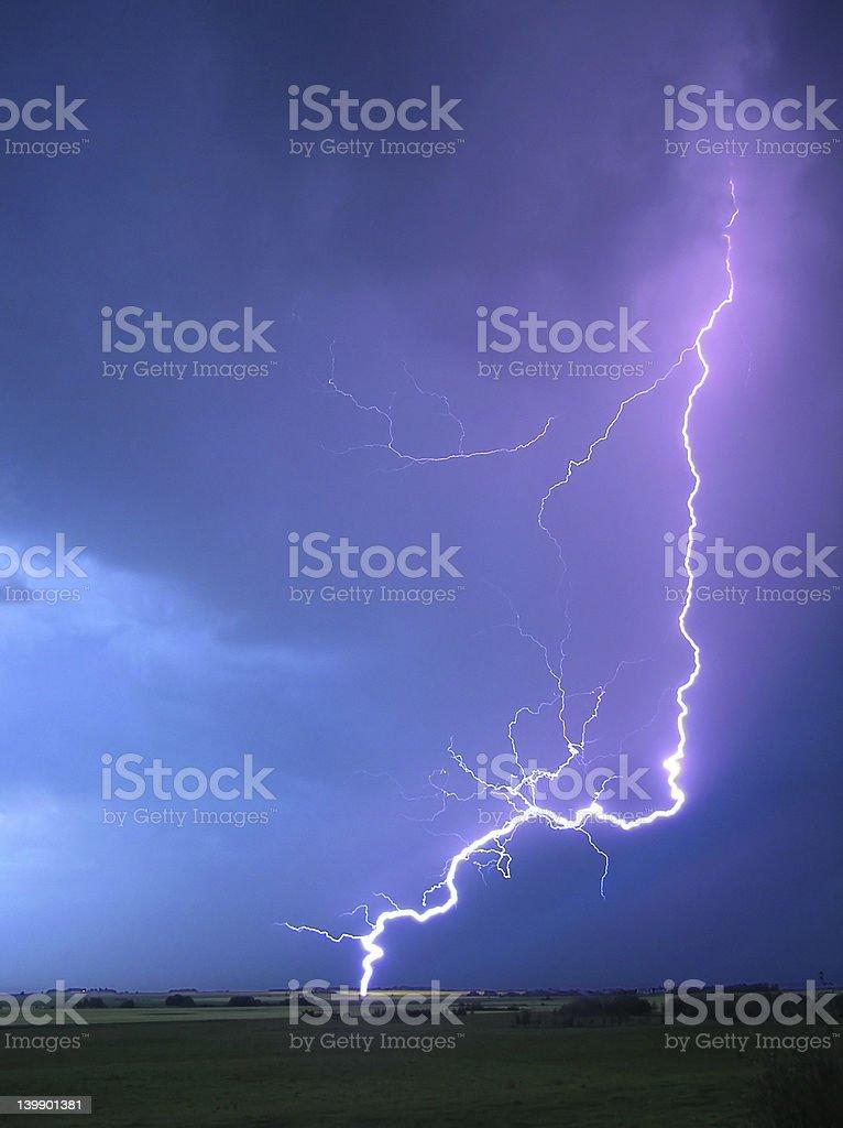 Daytime Lightning Strike royalty-free stock photo