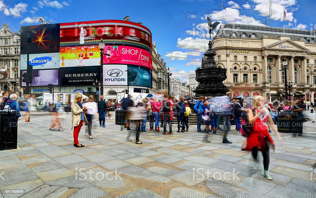 Daytime Long Exposure in Piccadilly Circus stock photo
