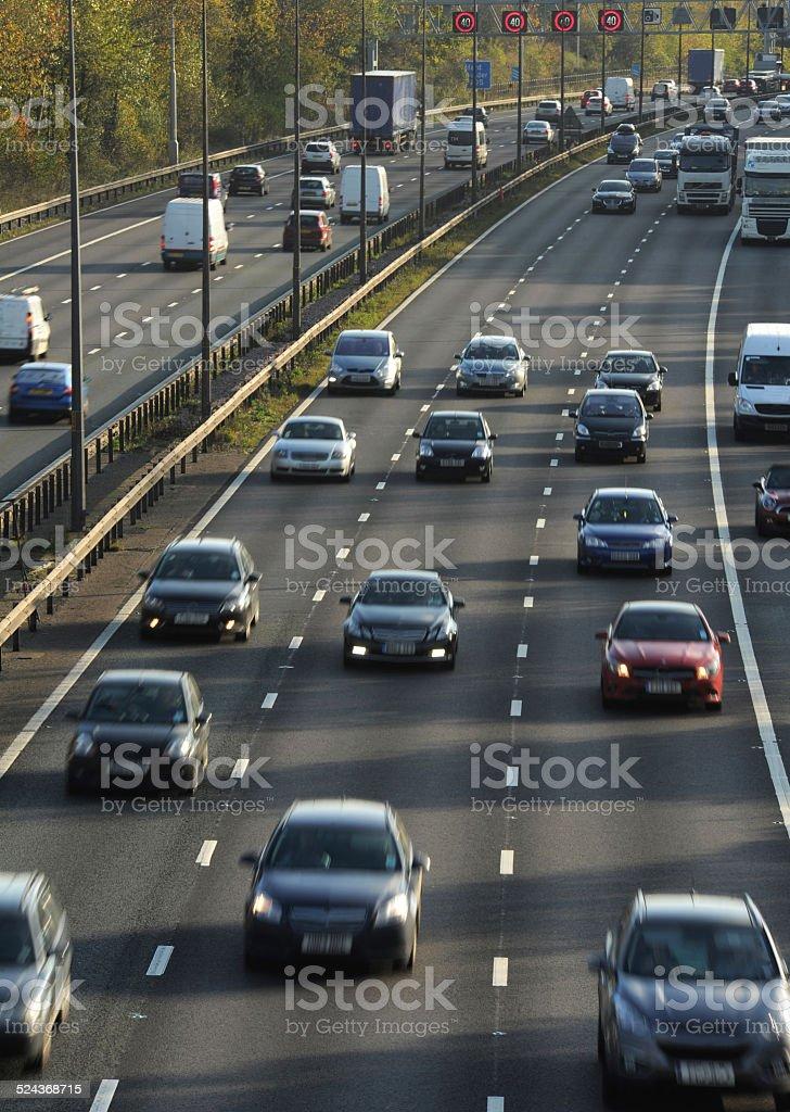 Daytime Motorway Traffic stock photo