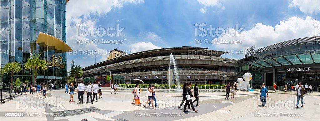 Daytime People visit at Siam Paragon stock photo