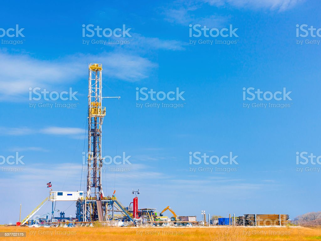 Daytime Shale Oil Platform stock photo