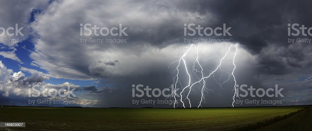 Daytime Thunderstorm stock photo