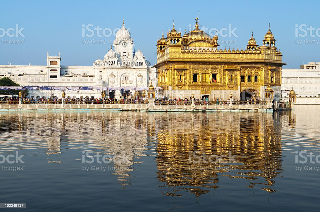 Daytime view of Golden Temple royalty-free stock photo