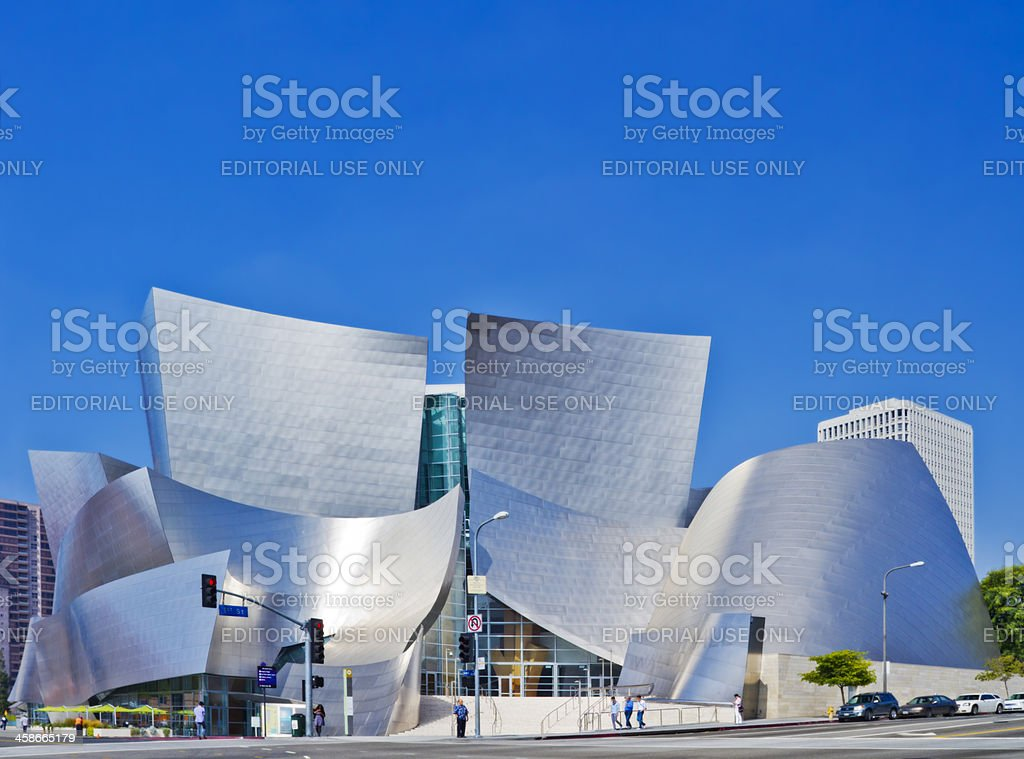 Daytime View of Walt Disney Concert Hall In Los Angeles stock photo