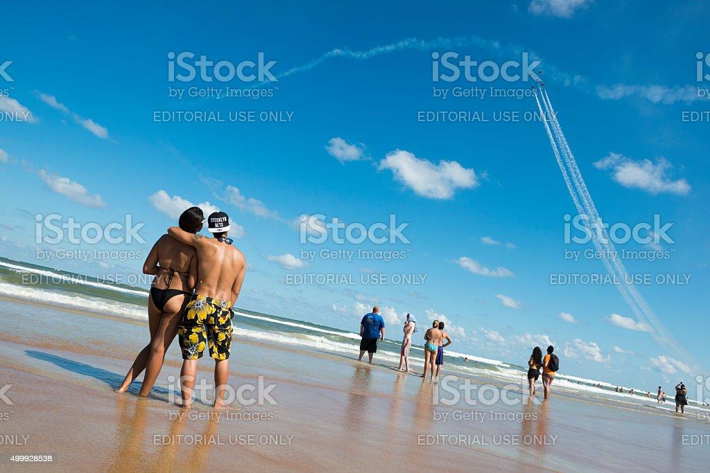 Daytona Beach airshow with USAF Thunderbirds stock photo