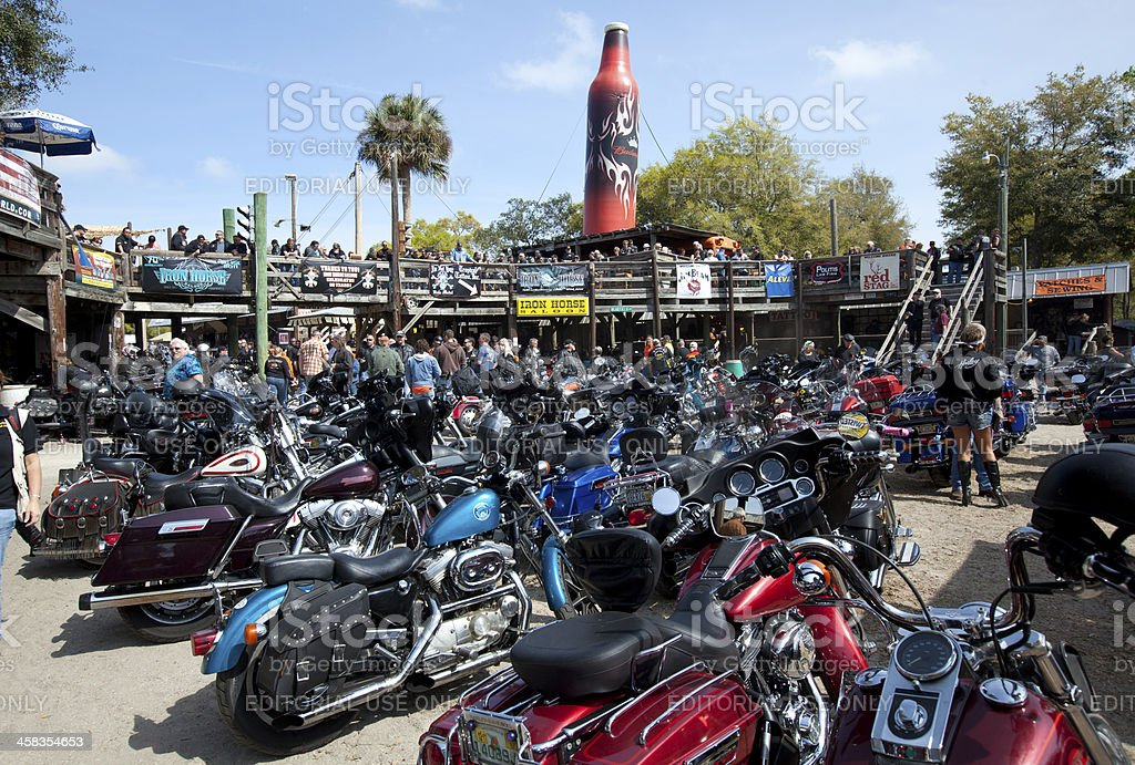 Daytona Beach Bike Week - Motorcycle Rally stock photo