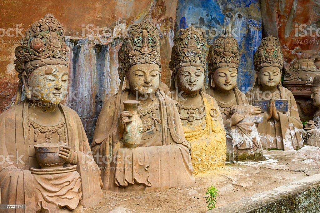 Dazu Rock Carvings Sculptures China stock photo