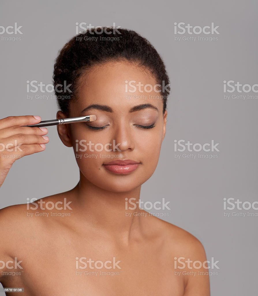 Dazzle them with your most beautiful eye look stock photo