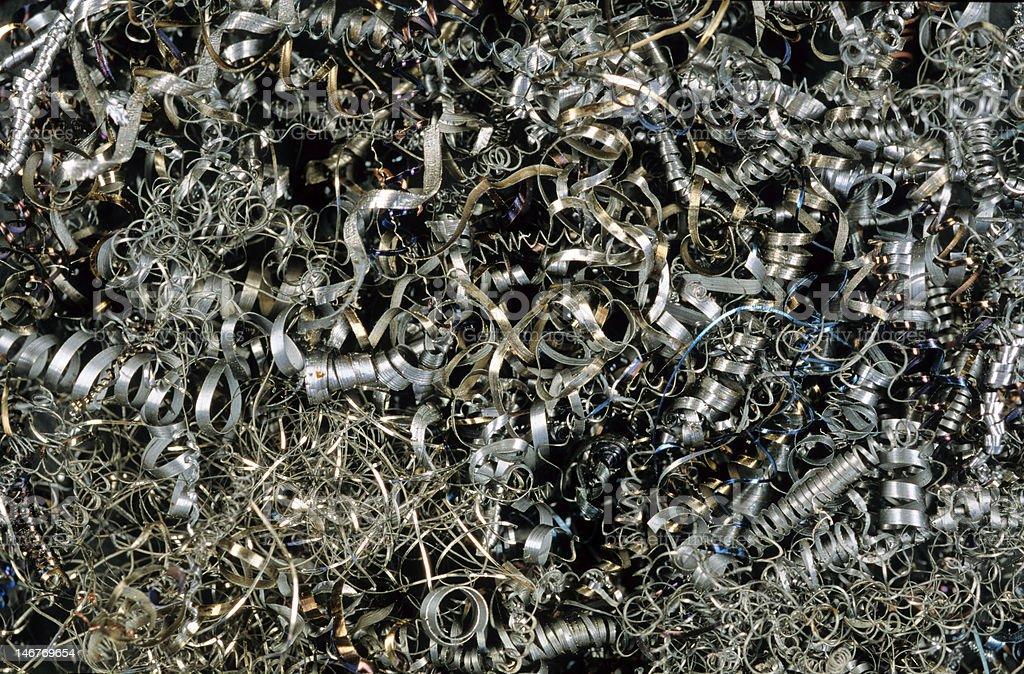 déchets de copeaux métalliques royalty-free stock photo