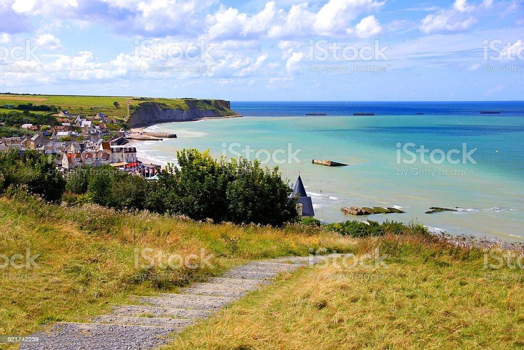 D-day beaches stock photo