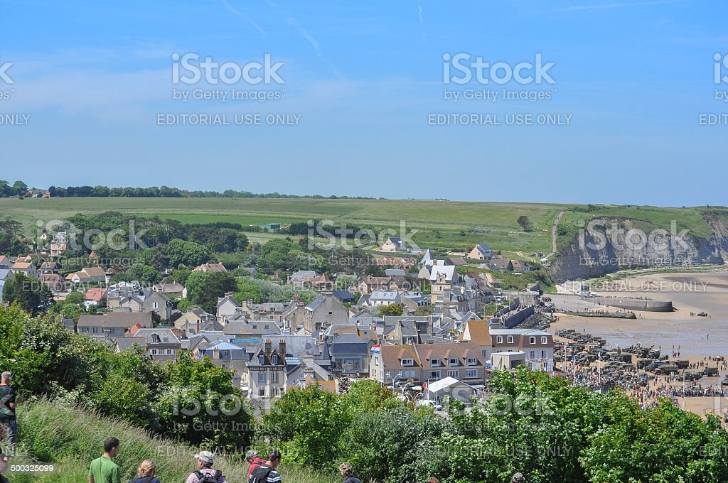 D-Day celebrations in Arromanches stock photo
