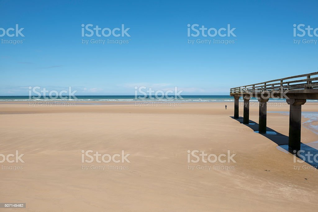 D-Day landing site - Omaha Beach, France stock photo