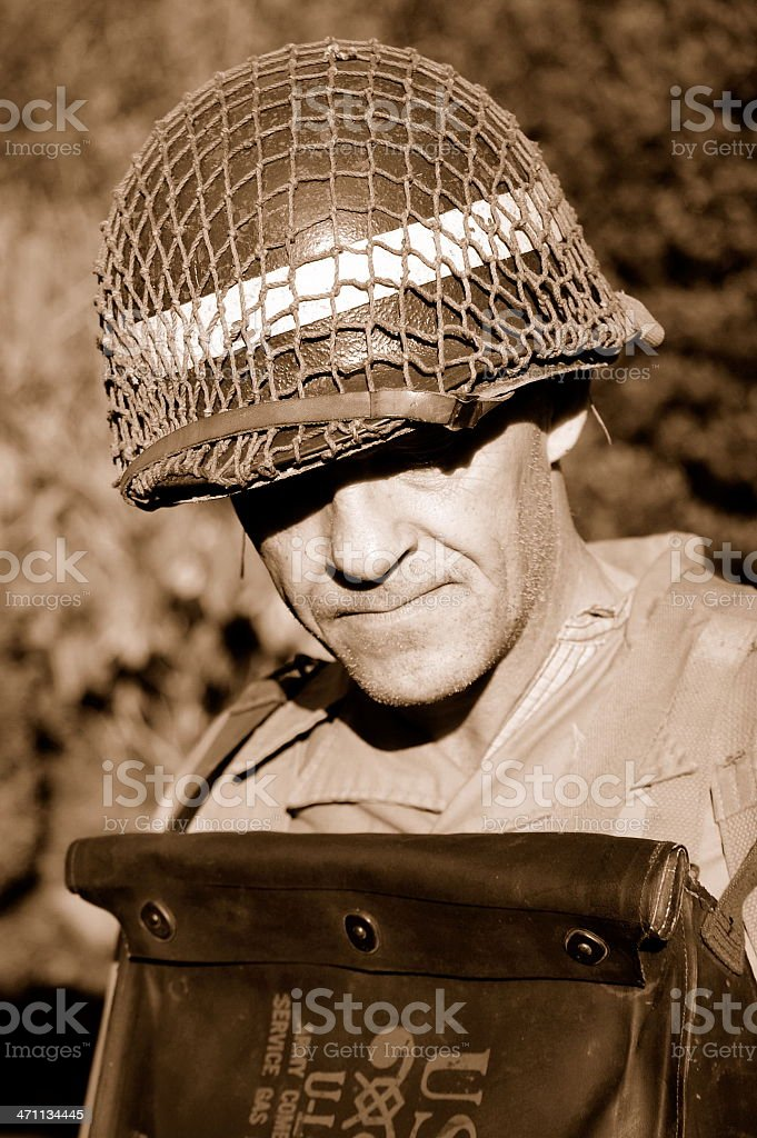 D-Day nerves. royalty-free stock photo