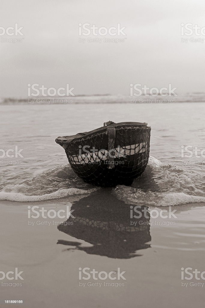 D-Day on Bloody Omaha. stock photo