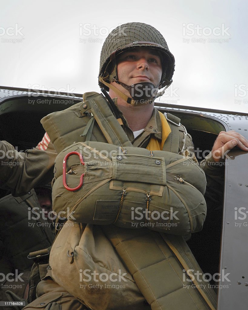 D-Day Paratrooper royalty-free stock photo