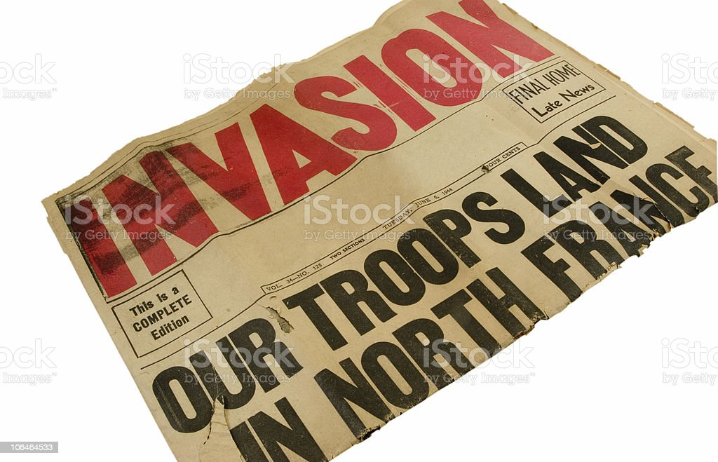 D-Day royalty-free stock photo