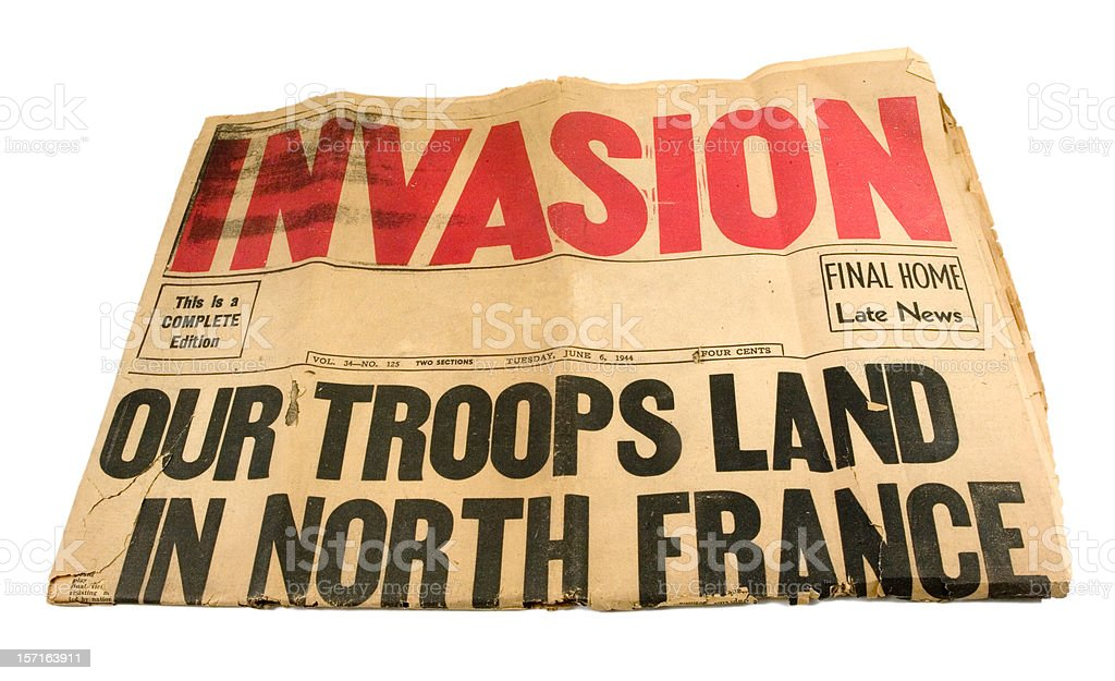 D-Day stock photo