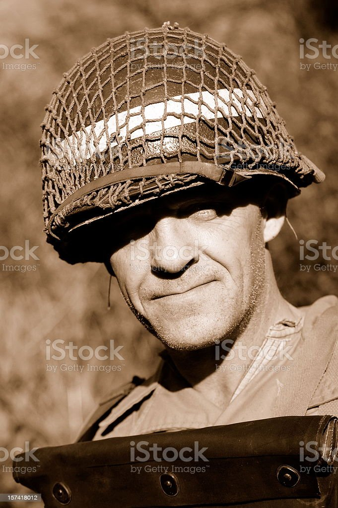 D-Day Soldier. royalty-free stock photo