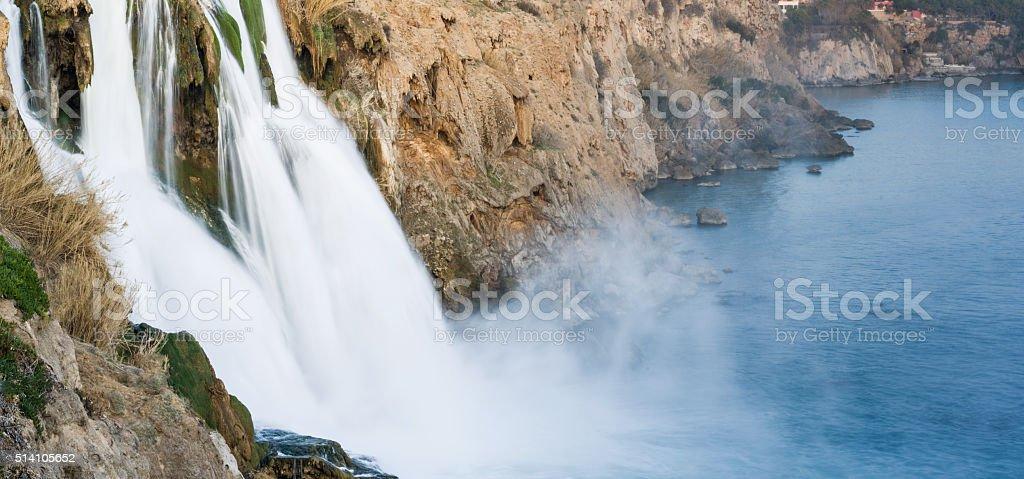 Düden park Antalya Waterfall stock photo