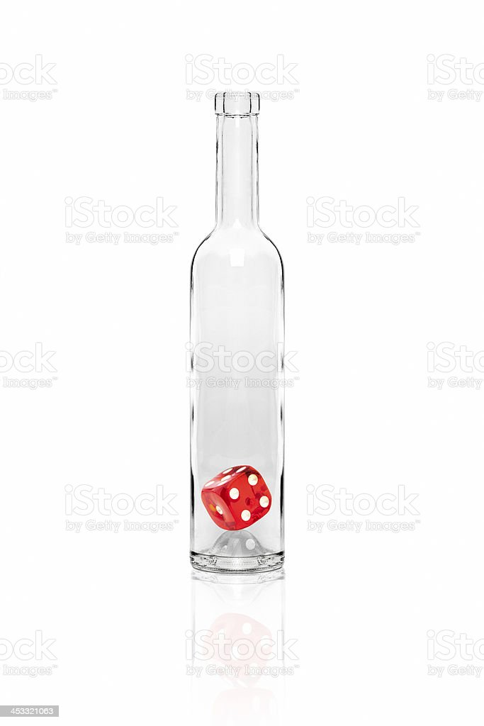 Ddice in the bottle royalty-free stock photo