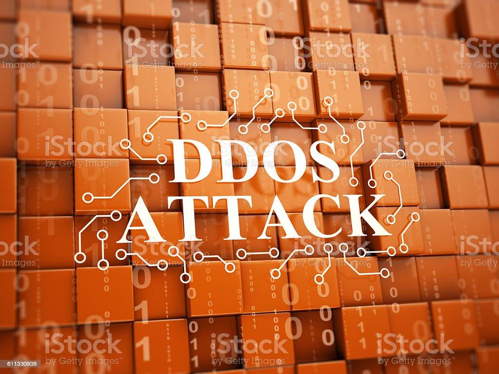 DDoS Attack stock photo